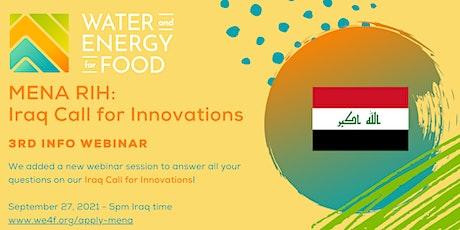 Iraq Call for Innovations Webinar tickets