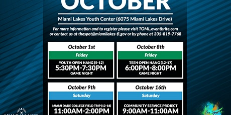 Community Service October 16 tickets