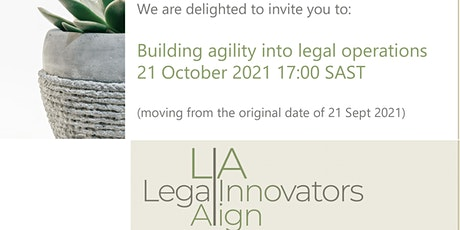 LIA Event - Building agility into legal operations tickets