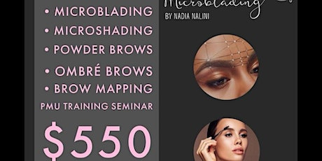 Learn: MicroBlading, Microshading, Powder & Ombre Brow Techniques tickets