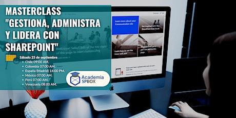 "Masterclass ""Gestiona, administra y lidera con SharePoint"" tickets"