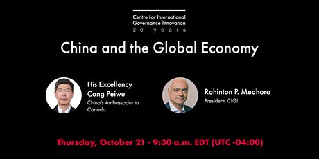 China and the Global Economy tickets
