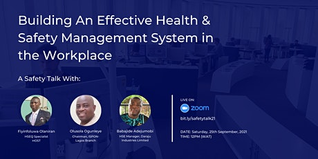 Building An Effective Health & Safety Management System in the Workplace tickets
