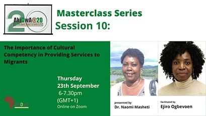 Masterclass 10: Cultural Competency in Providing Services to Migrants tickets