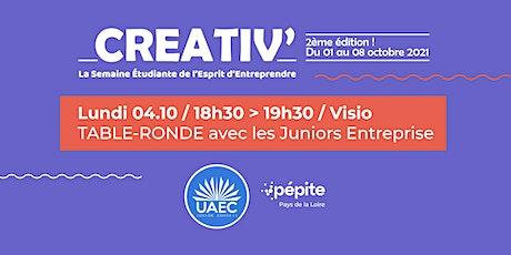 #CREATIV21 :Table ronde : les Juniors Entreprises billets
