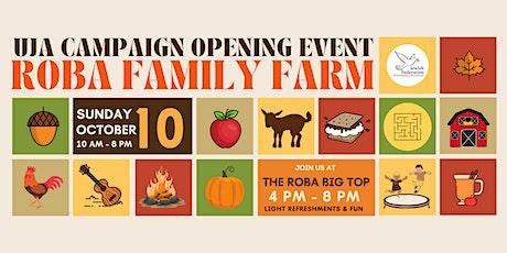 Roba Family Farm   UJA Campaign Event tickets
