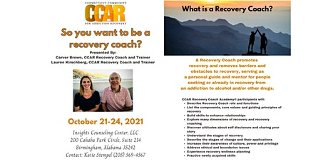 CCAR Recovery Coach Academy tickets