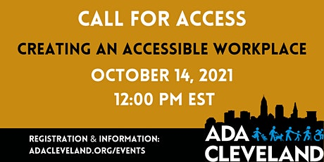 Creating an Accessible Workplace tickets