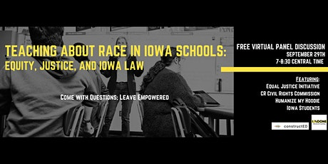 Teaching about Race in Iowa Schools: Equity, Justice, and Iowa Law tickets
