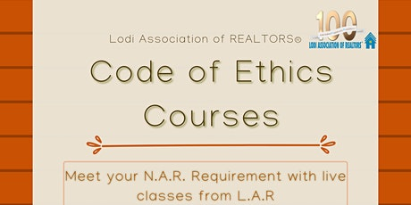 Fall Code of Ethics Course - MODESTO tickets