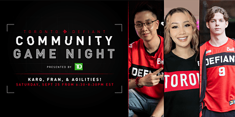 Toronto Defiant Community Game Night presented by TD tickets