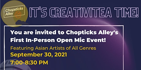 CreativiTEA Monthly Open Mic tickets