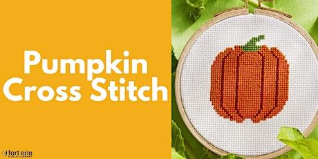 Tween/Teen Craft Kit - Pumpkin Cross Stitch tickets