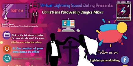 ZOOM Sunday Virtual Dating: Christian Singles Mixer  for ages 30 to 45 tickets