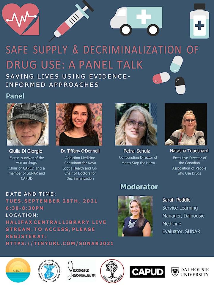 Safe Supply and Decriminalization of Drug Use:  A Panel Talk image