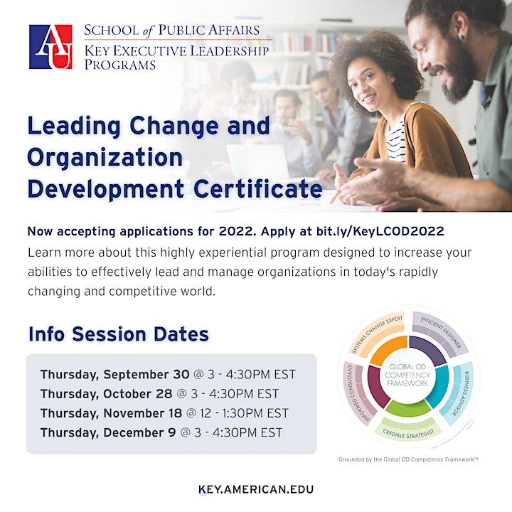 Leading Change and Organization Development Session image