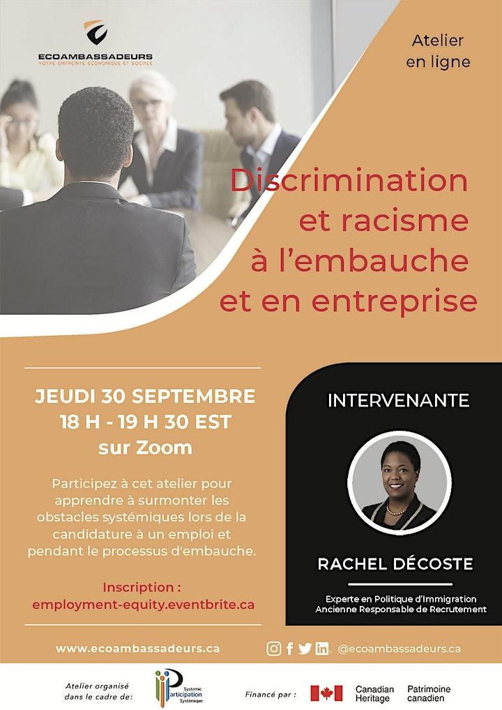 Discrimination  et racisme  à l'embauche  et en entreprise image