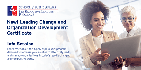 Leading Change and Organization Development Info Session tickets