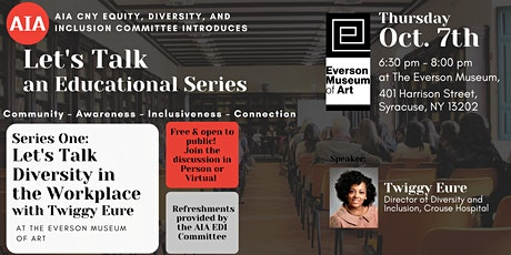 AIA CNY EDI COMMITTEE EDUCATIONAL SERIES- LETS TALK DIVERSITY tickets