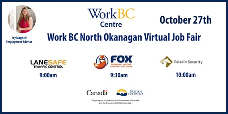 WorkBC North Okanagan October Virtual Job Fair tickets