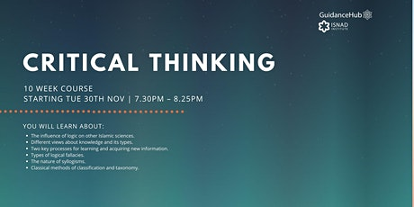 Critical Thinking - (Every Tue from 30th Nov | 10 Weeks | 7:30PM) tickets