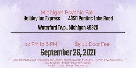 Michigan Psychic Fair September 19, 2021, Comfort Inn Farmington Hills, MI tickets