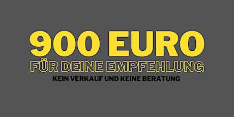 Zoom-Call: 900 Euro für deine Weiterempfehlung Tickets