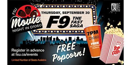 FSU Movie Night - F9: The Fast Saga tickets