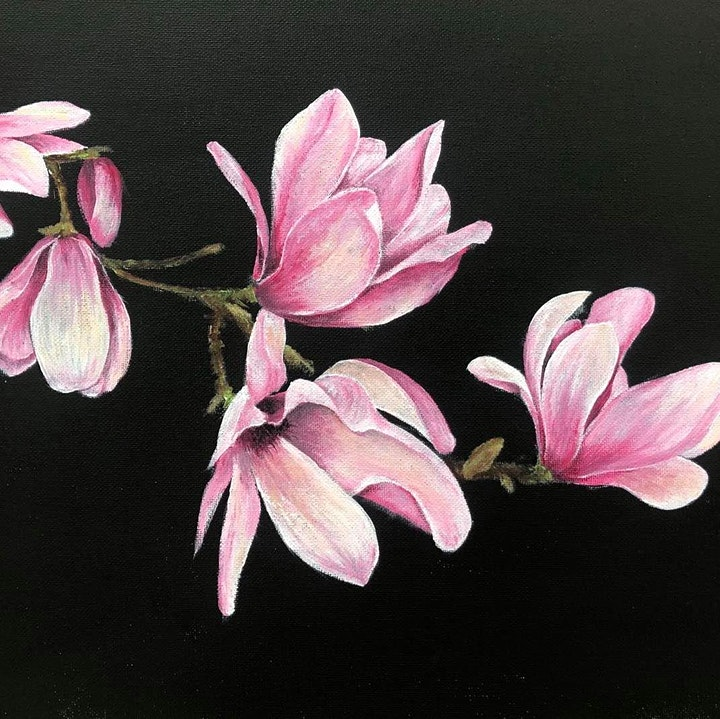 Acrylic Flower Painting Workshop image