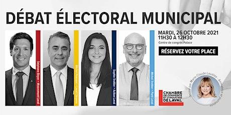 Débat électoral municipal - CCILaval billets