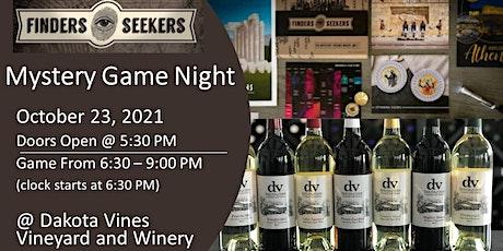 Dakota Vines' Finders Seekers Mystery Game Night tickets
