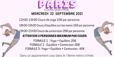 Cours SEMI-PRIVÉ  Yoga, Équilibre Contorsion PARIS billets