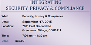 CHIMSS: Security/Compliance and Personal Health...