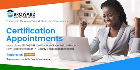 Certification Appointment tickets
