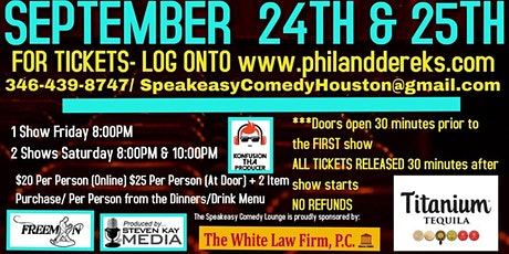 Speakeasy Comedy Lounge 9/24 & 9/25 tickets