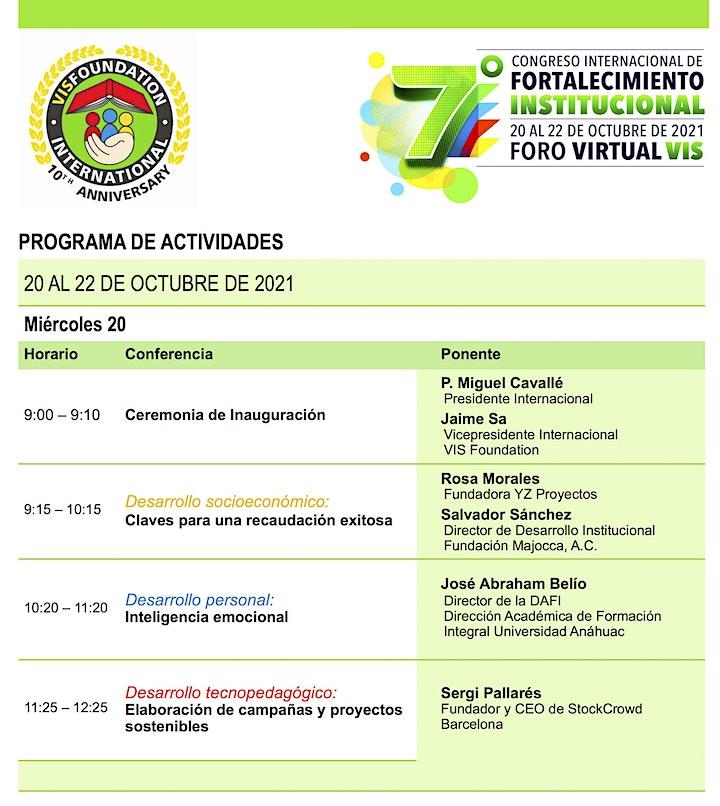 Imagen de 7o. Congreso Internacional de Fortalecimiento Institucional VIS Foundation