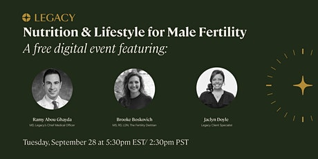 Nutrition and Lifestyle for Male Fertility tickets