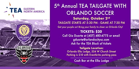 5th Annual TEA Tailgate with Orlando Soccer tickets