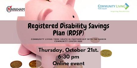 Registered Disability Savings Plan (RDSP) tickets