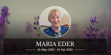 Memorial Service for Mrs. Maria Eder tickets