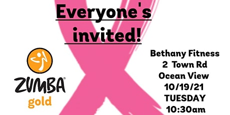 Free Zumba®Gold Class at Bethany Fitness. Annual Pink Ribbon Open House tickets