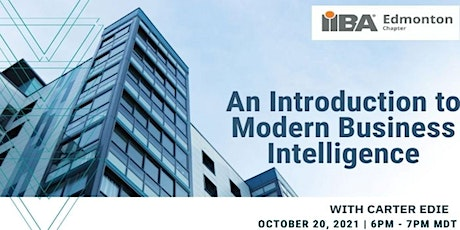 An Introduction to Modern Business Intelligence tickets