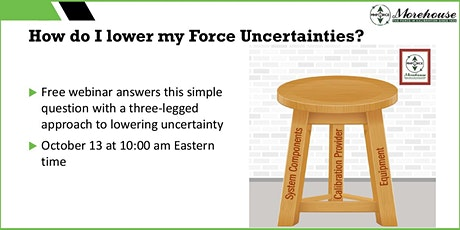 How to Lower your Force Measurement Uncertainty tickets