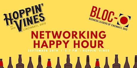 BLOC-O Cincinnati Networking Happy Hour at Hoppin' Vines! tickets