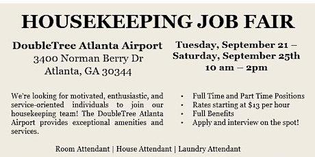 Housekeeping Job Fair - DoubleTree Hotel Atlanta Airport tickets
