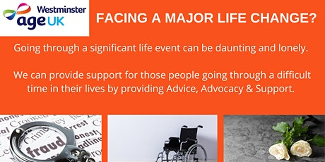 Age UK Westminster's NEW project : Complex Needs Advice, Advocacy & Support tickets