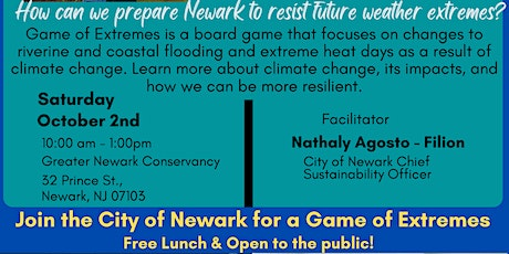 City of Newark Office of Sustainability - Game of Extremes Training Session tickets