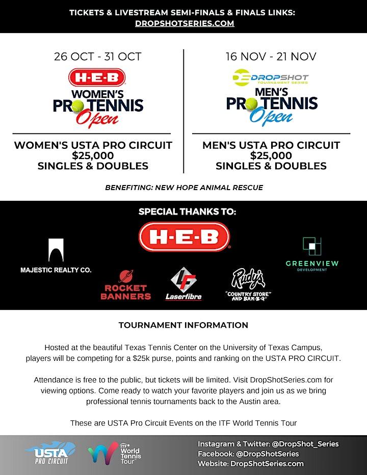2021 H-E-B Women's Pro Tennis Open ~ 26-31 OCT. 2021~Austin, TX image