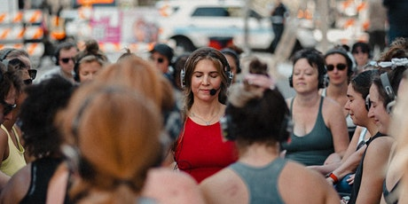 Silent Disco Yoga at Pioneer Court Michigan Ave tickets