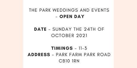 Open Day - The Park Weddings and Events tickets